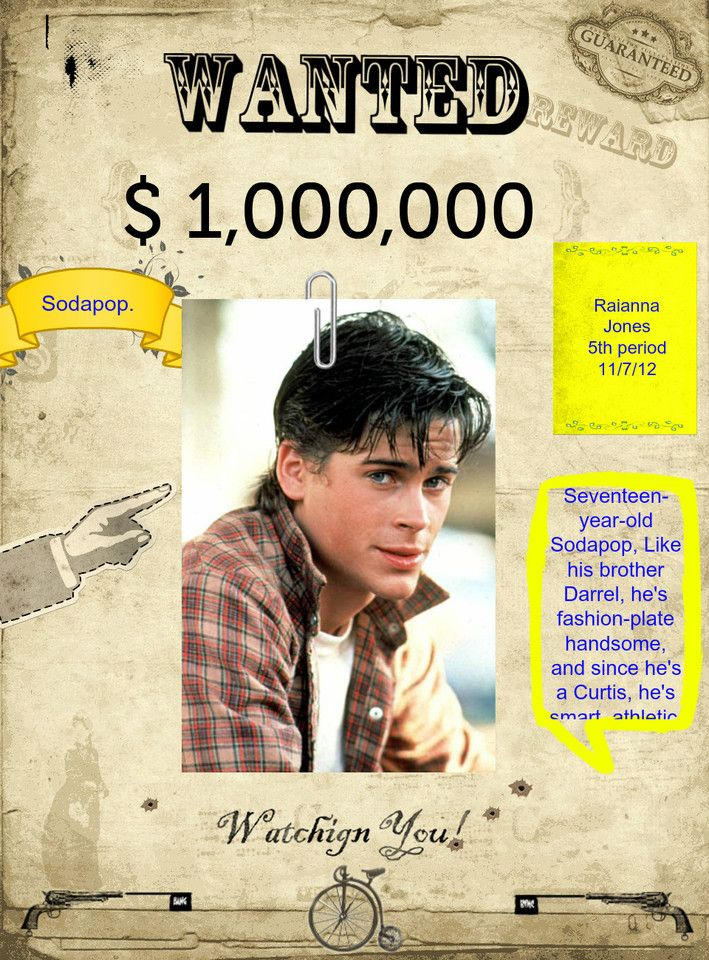 The Outsiders Book Cover Ideas : To my friend who love sodapop the outsiders pinterest