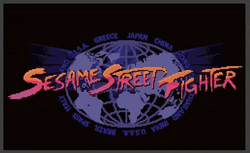 Sesame Street Fighter sees Sesame Street characters standing in for some of the classic Street Fighter characters — Cookie Monster as E. Honda, Grover as Dhalsim, Oscar as Blanka, and Bert and Ernie as Ryu and Ken. Elmo is supposedly there as M. Bison