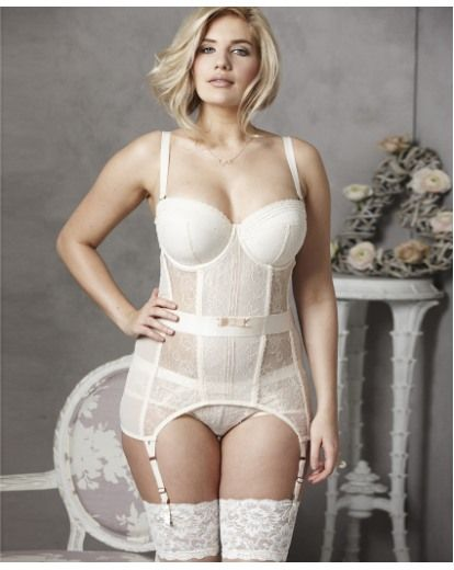Gossard Ooh La La Corselet in Ivory, worn by Simply Be and Simply Yours model Erika Elfwencrona   >>http://www.simplyyours.co.uk/shop/gossard-ooh-la-la-corselet/sx524/product/details/show.action?pdBoUid=5280
