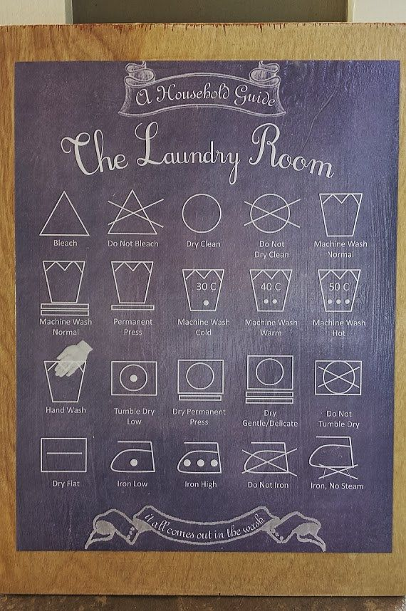 The Laundry Room Household Guide Decoupage Wood Sign | Wood Art For Your Home| Chalkboard Inspired on Etsy, $5.00