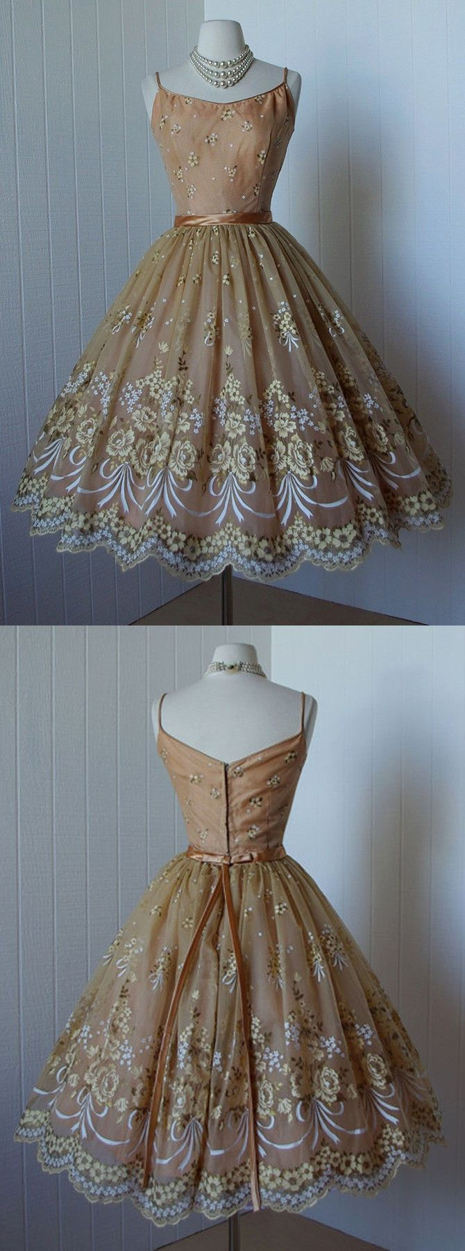 short homecoming dresses,lace homecoming dresses,50s vintage dresses,champagne homecoming dresses @simpledress2480