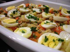 Salada de Natal com lombo de bacalhau. | Cozinha Menina