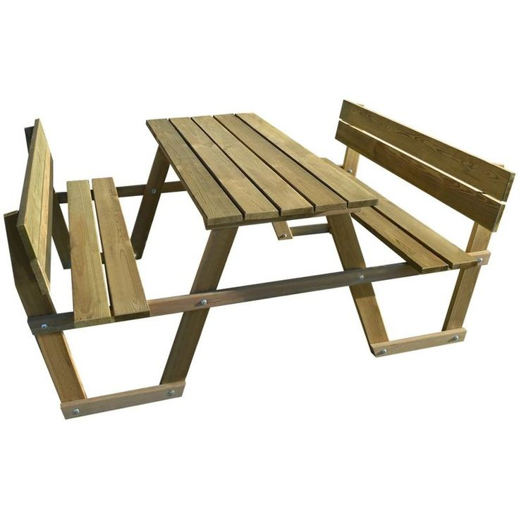 In Stock Best Prices On Vidaxl Picnic Table With Backrest