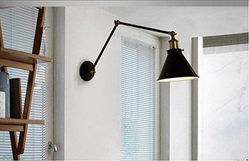 KING DO WAY 90-260V 調整可能な角度:270° 対応電球:E27 ブラケットライト・レトロ・照明器具 真鍮 1灯 アンティーク調 レトロ おしゃれ かっこいい スポットライト 壁掛け照明器具 ダイニング 食卓 リビング 居間 和室 和風 led対応 北欧