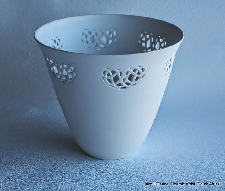Finding Pretty Again: Delicate hand-carved Porcelain Pots by Jacqui Deane of South Africa