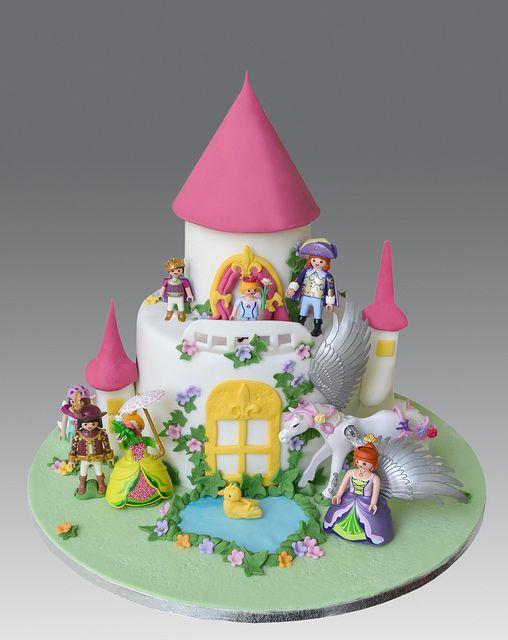Playmobil Princess Castle Cake   Flickr - Photo Sharing!