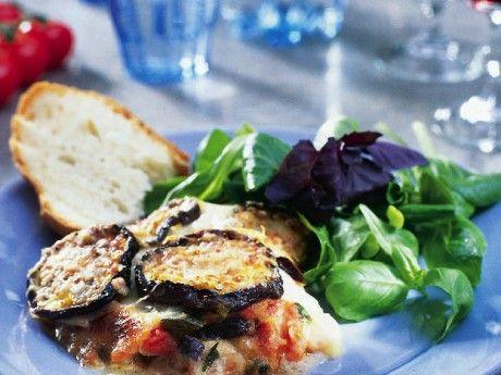Tomat- och auberginegratäng