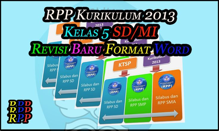 RPP Kurikulum 2013 Kelas 5 SD / MI Revisi Terbaru Format Word (DOC)