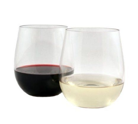 WineTanium Stemless Wine Glass, Shatterproof, Reusable, Dishwasher Safe - perfect by the pool, picnics, camping, etc.
