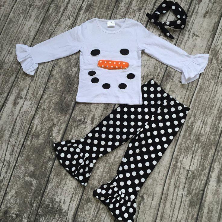Snowman Pant Set with Headband