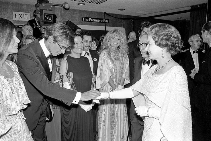 Harrison Ford, Karen Allen, Dyan Cannon and Queen Elizabeth II