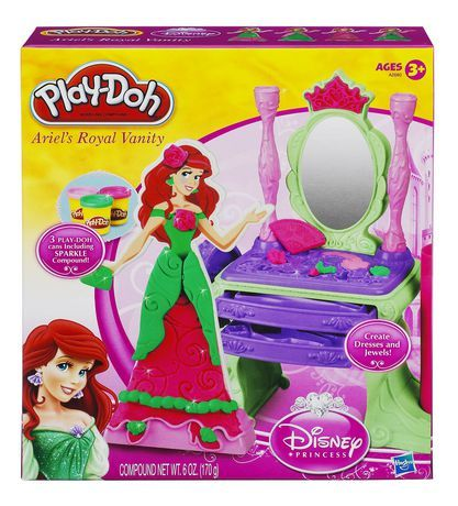 PLAY-DOH® Disney Princess Princess Ariel's Vanity Set for sale at Walmart Canada. Buy Toys online for less at Walmart.ca