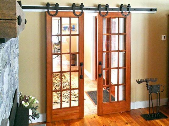 Interior Sliding Barn Doors. Interior Barn Door Kit With Glass ...
