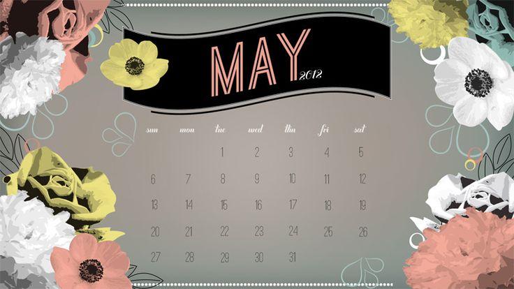 Free Downloadable May 2012 Desktop Calendar
