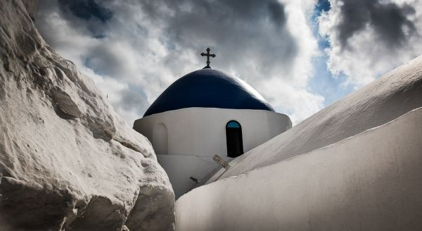 Winter skies in the Cyclades