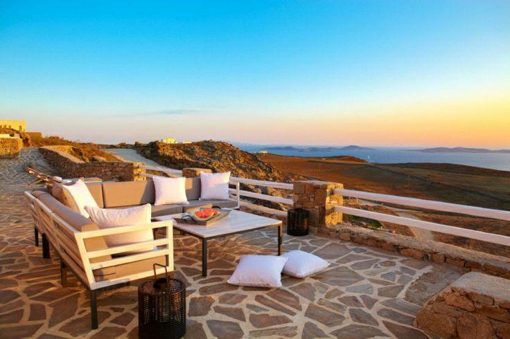 Golden Sunset through Gold Villa in Mykonos: http://instylevillas.net/property/gold-villa-mykonos/