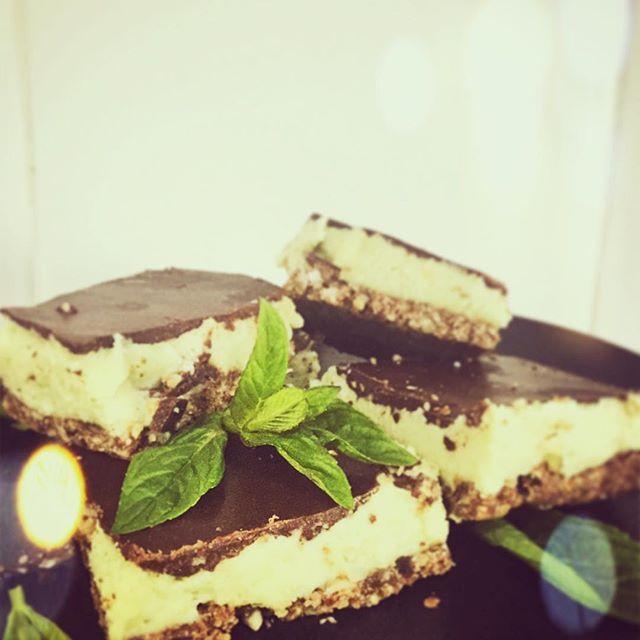 Choc mint vegan slice gluten free