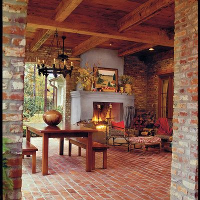 Cozy Brick Porch - Porch and Patio Design Inspiration - Southern Living