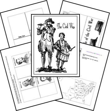 FREE Civil War Lapbook from Homeschool Share - Frugal Homeschool Family
