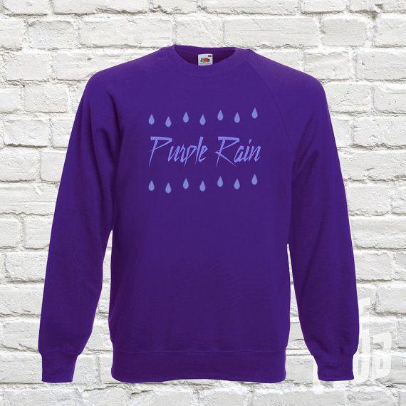 Purple rain sweatshirt prince top prince musician when by TeeClub