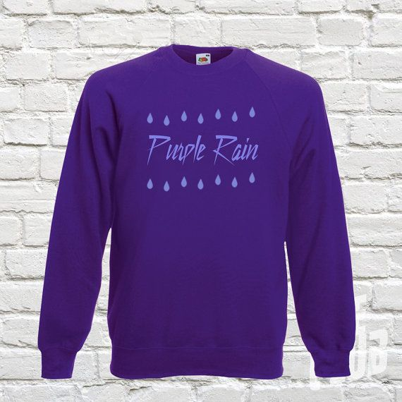Purple rain sweatshirt prince top prince musician when by TeeClub