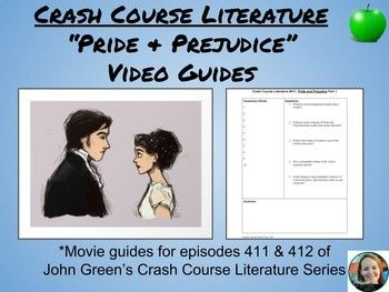 """This guide goes along with John Green's (yes, that John Green) Crash Course Literature videos for Jane Austen's, """"Pride and Prejudice."""" It is designed to help students make sense and organize fast-talking John Green's ideas about Austen's study of human character, love, and money."""