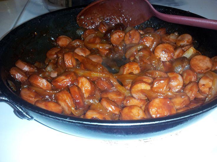 salchichas enchipotladas/ Comida mexicana
