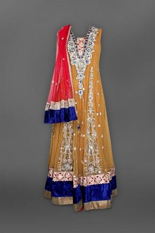Featuring this beautiful Antique Brown Anarkali in our wide range of Suits. Grab yourself one. Now!