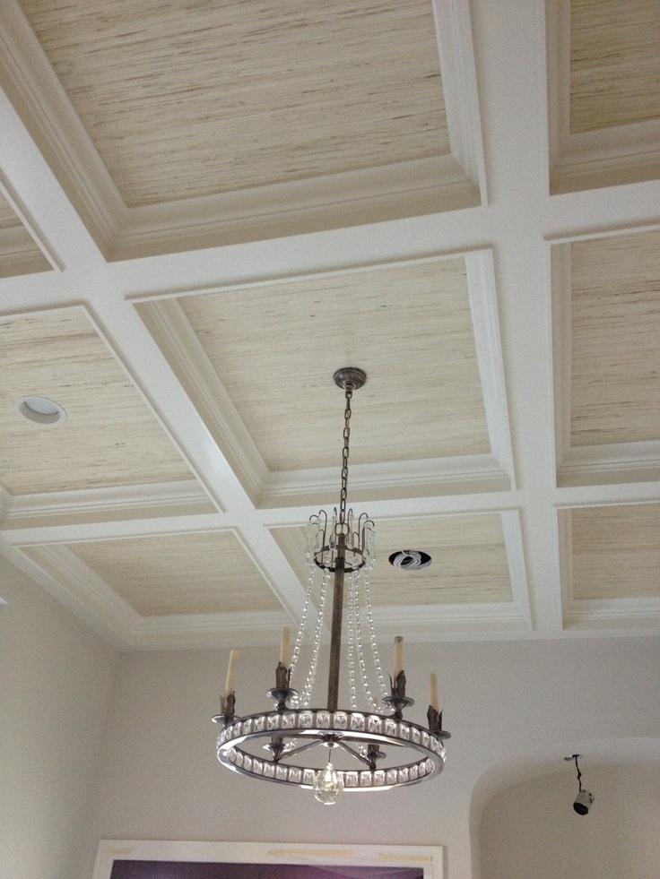 Best 25 grass cloth wallpaper ideas on pinterest - Textured wallpaper on ceiling ...