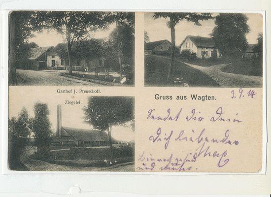 Wagten, Gasthof, Ziegelei, Wohnhaus