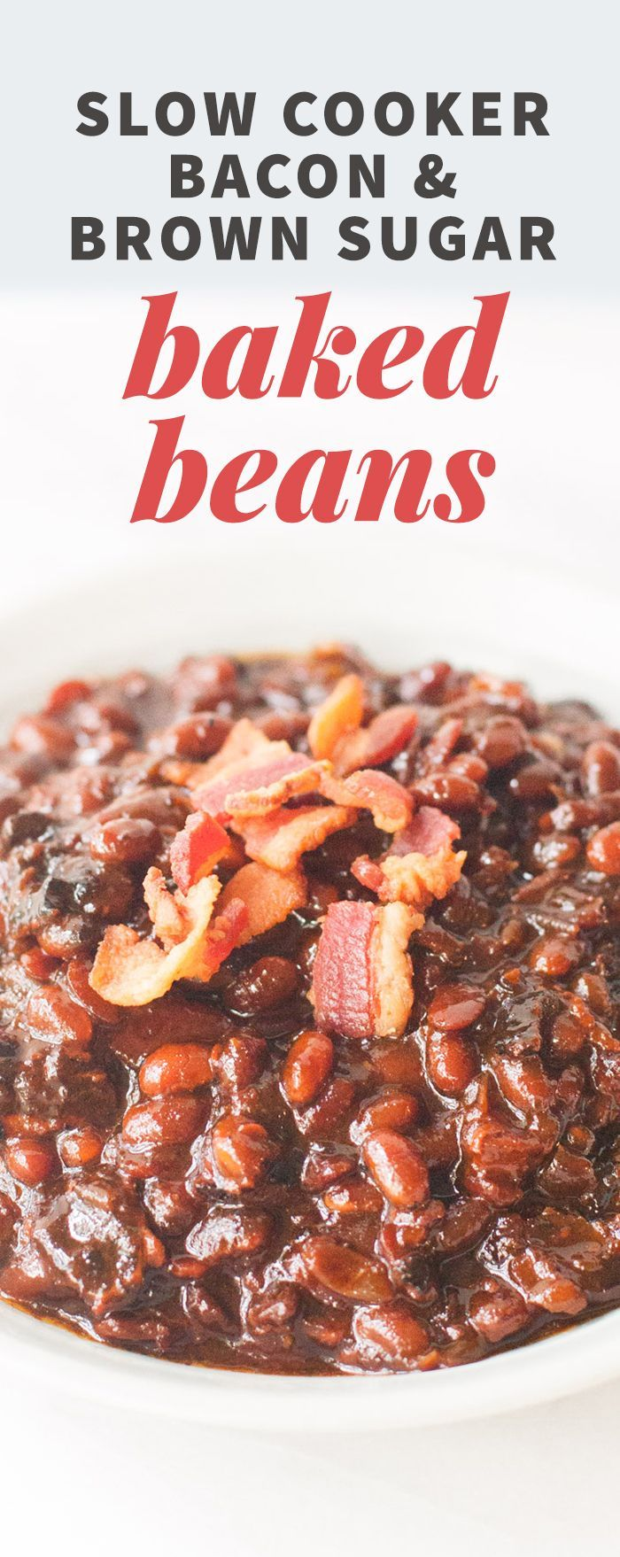 Slow Cooker Bacon & Brown Sugar Baked Beans (Sponsored Partnership) #CrockPotRecipes #sponsored @Crockpot