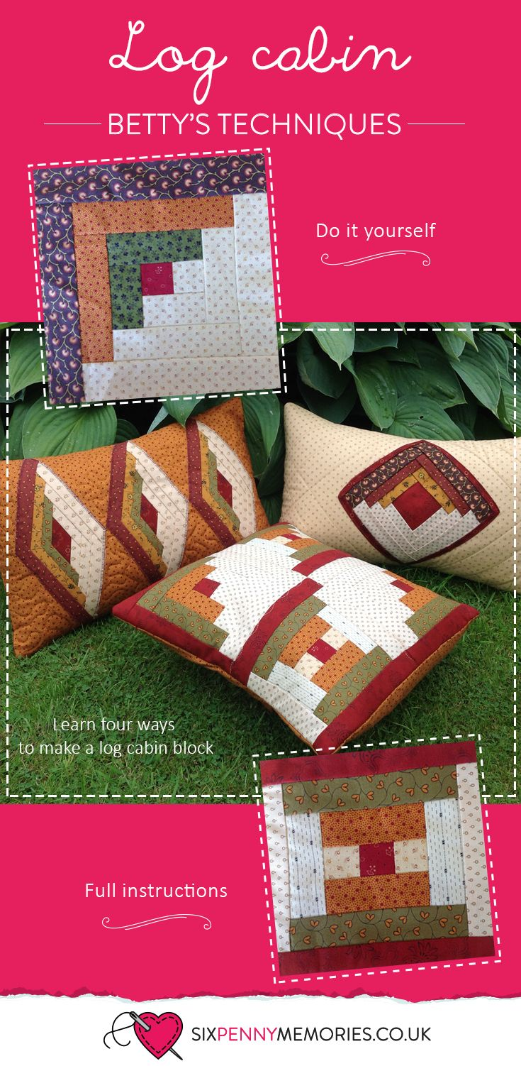Learn four ways to make a log cabin block
