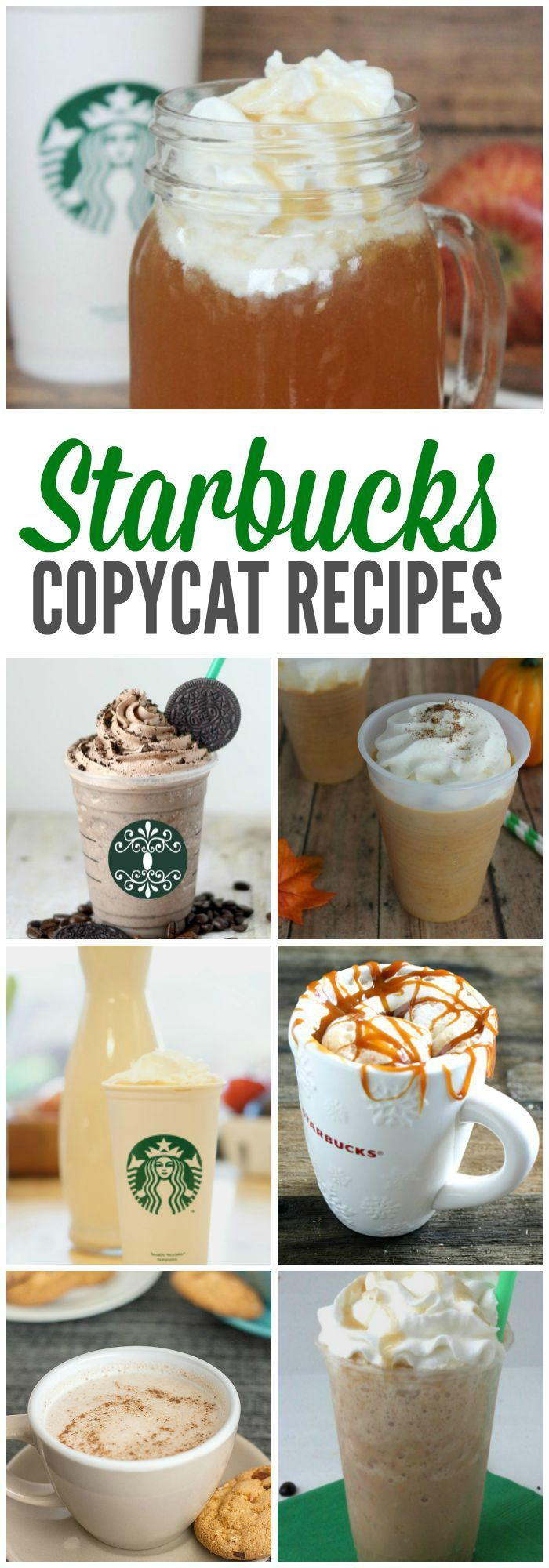 THE BEST Starbucks Copycat  Recipes and Starbucks Drinks to Make at Home! YUM!