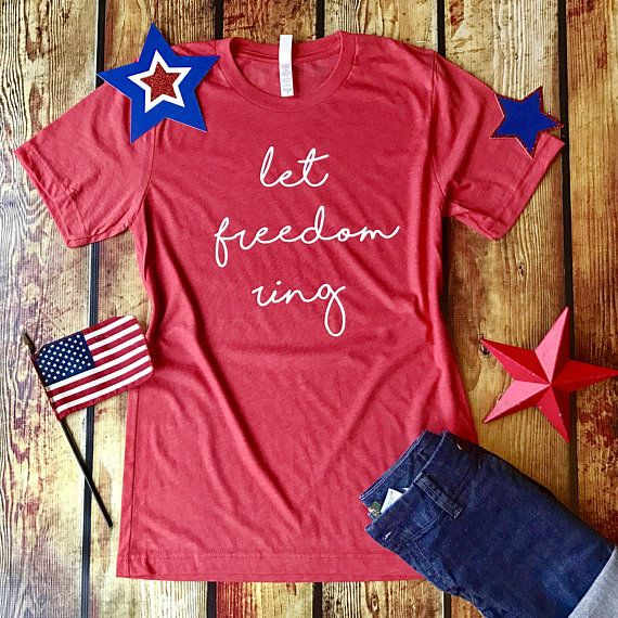 Patriotic / Let Freedom Ring / Heather Red Shirt / Bella