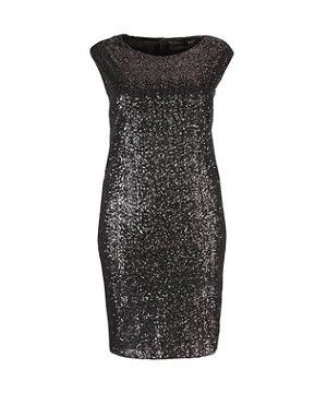 Black (Black) Koko Black Sequin Capped Sleeve Dress | 268210101 | New Look