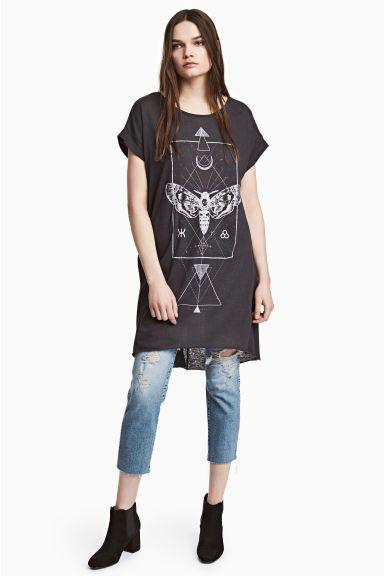 T-shirt dress - Black - Ladies | H&M GB 1