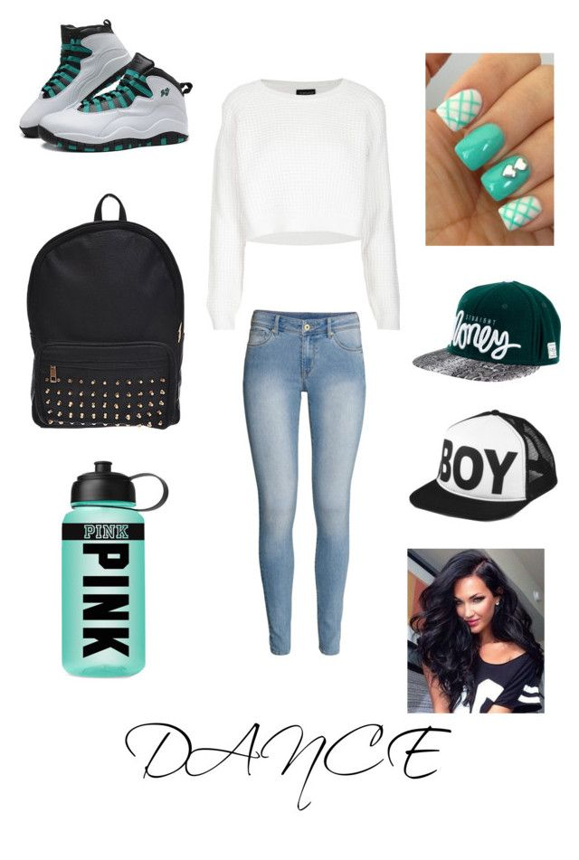 """Hip Hop Dance practice wear"" by aesthic ❤ liked on Polyvore featuring Retrò, H&M, Topshop, Victoria's Secret PINK and BOY London"