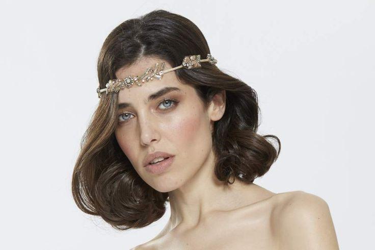 Romantische haarband - Vintage haarband - Haarjuweel - Bridal Headband - Headband vintage - Bruids haarband in kleur - Vintage bridal  -