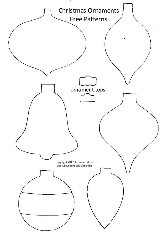 Free Christmas Bulb and Ornament Patterns: Six Free Christmas Tree Ornament Patterns