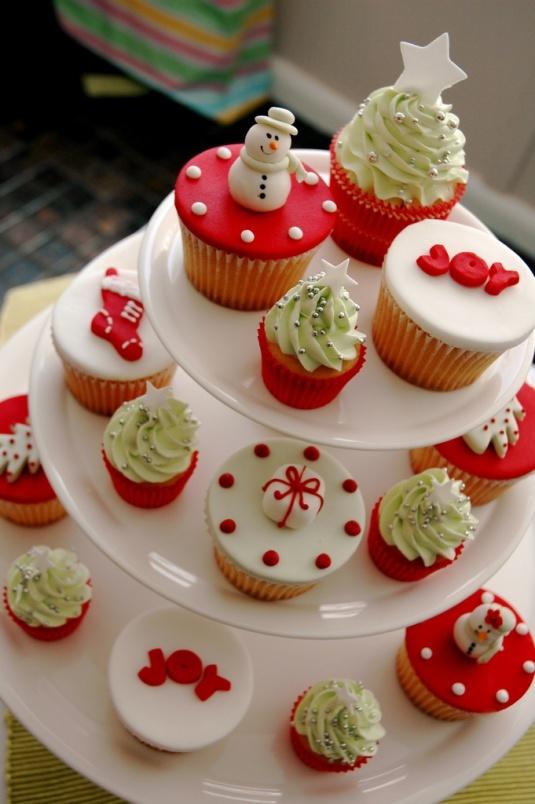 Galletas y cupcakes navideños