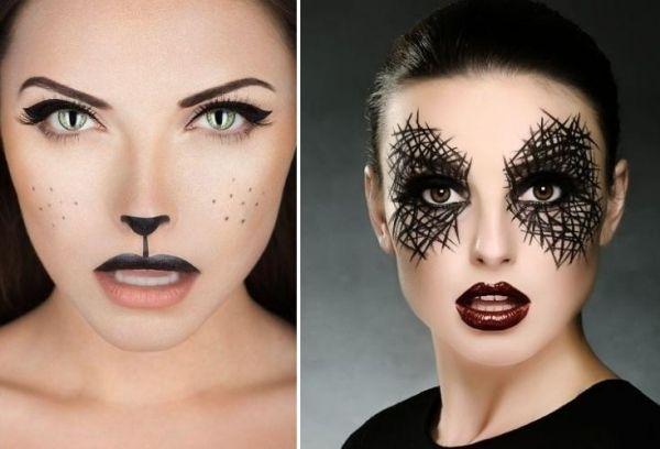 Fasching Schminken Ideen Katze-Augen-Make-Up