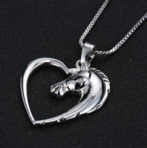Heart Shaped Horse Pendant