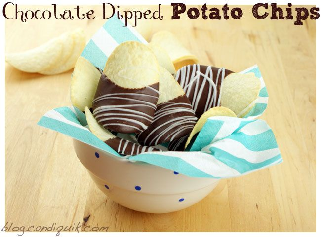 Chocolate Dipped Potato Chips! An awesome snack that captures the ...