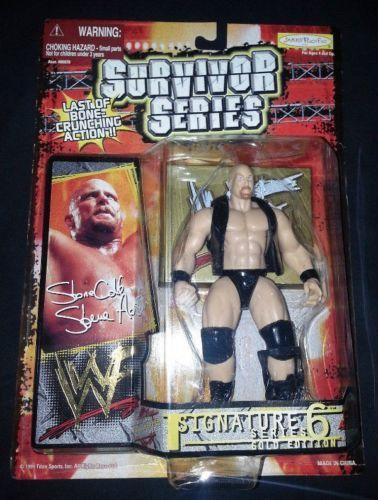 WWF Stone Cold Survivor Series 6 Gold Edition action figure NIP NIB Jakks WWE