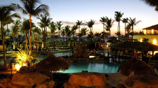 Aruba - Pool at Night - Caribbean