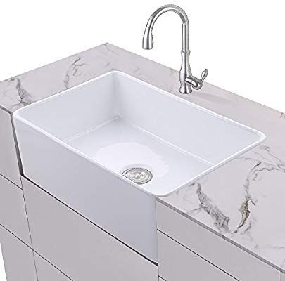 KES Fireclay Sink Farmhouse Kitchen Sink (30 Inch Porcelain ... on rectangle kitchen sink, rectangle glass sink, rectangle bar sink, rectangle white sink, rectangle marble sink, rectangle modern sink, rectangle tile, rectangle porcelain sink, white bathroom drop in sink, rectangle vessel sink, wall mount rectangular bathroom sink, rectangle mirror, rectangle overmount sink, rectangle utility sink, rectangle drop in sink, rectangle basin sink, 12 bar sink, rectangle stainless sink, rectangle farmhouse sink,