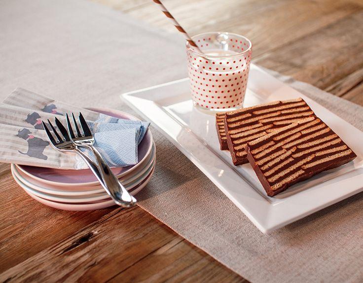 Kalter Hund - Ein schokoladiger Kuchen ohne Backen mit Butterkeksen für Kinder
