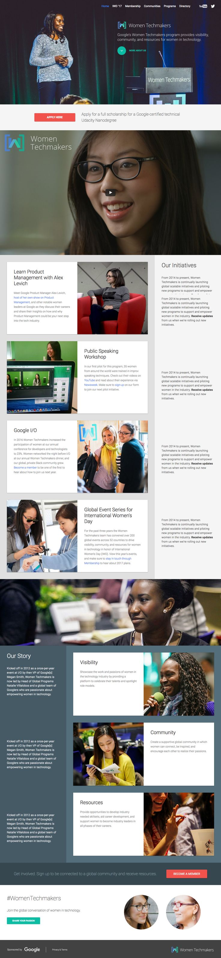 Google initiative, design is focused on its social impact rather than the impact of learning tech on girls.