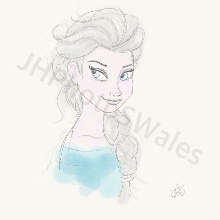 Elsa Frozen. Apple Pencil iPad Pro