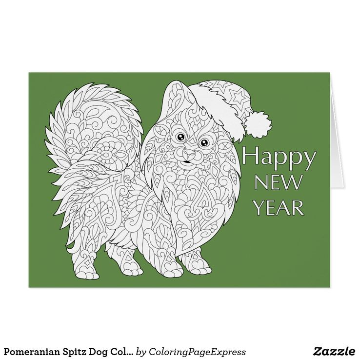 Pomeranian Spitz Dog Coloring